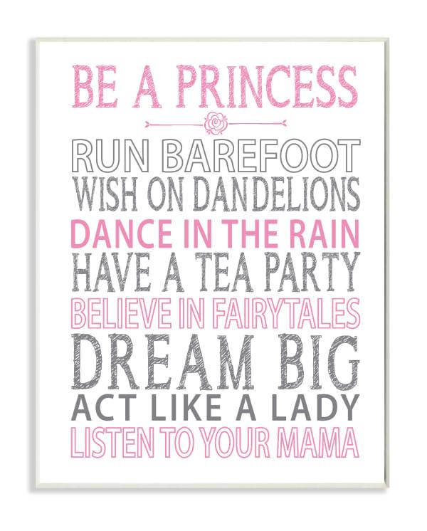 Princess Dreams Wall Plaque Art