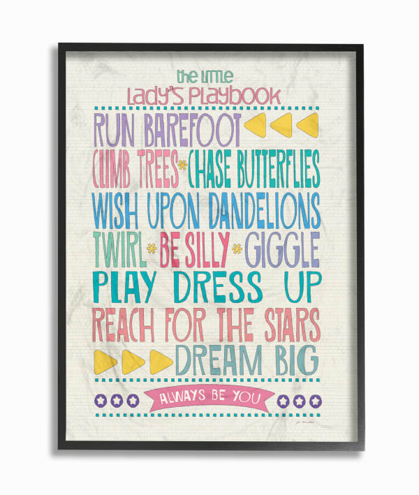 Lady's Playbook Framed Giclee Wall Art