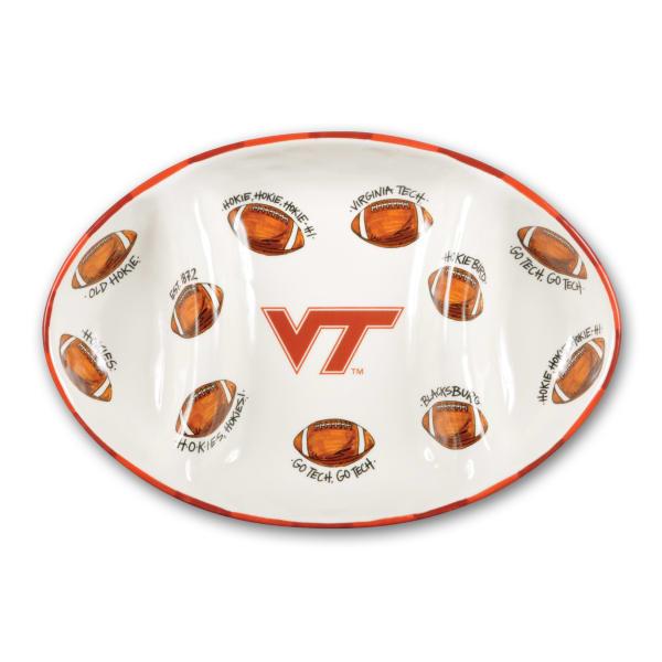 Virginia Tech Ceramic Football Tailgating Platter
