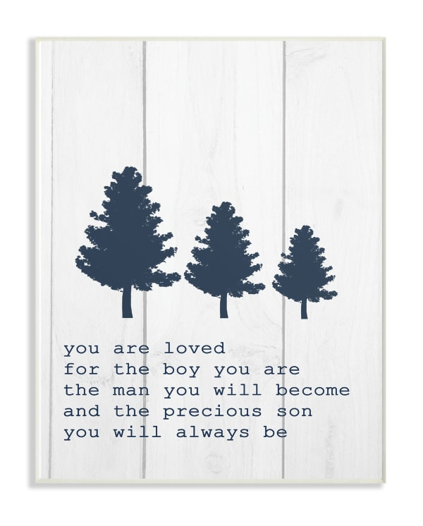 The Man You Will Become Wood Plaque Wall Art