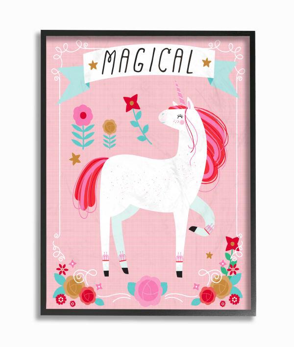 Magical Unicorn Framed Giclee Wall Art