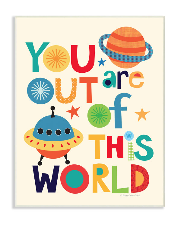 Out Of This World Wall Plaque Art