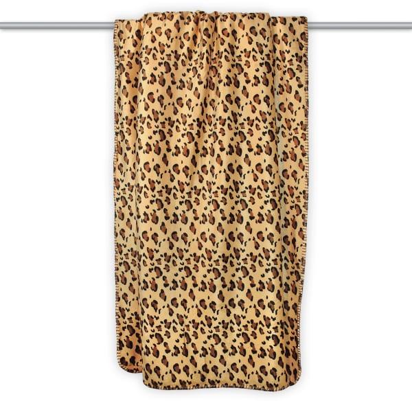 Leopard Print Sherpa Throw Blanket