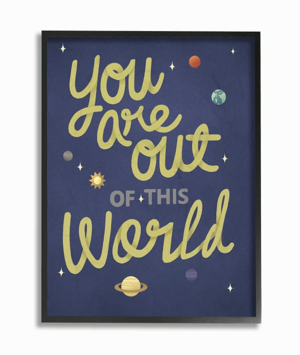 Outer Space Great Framed Giclee Texturized Art