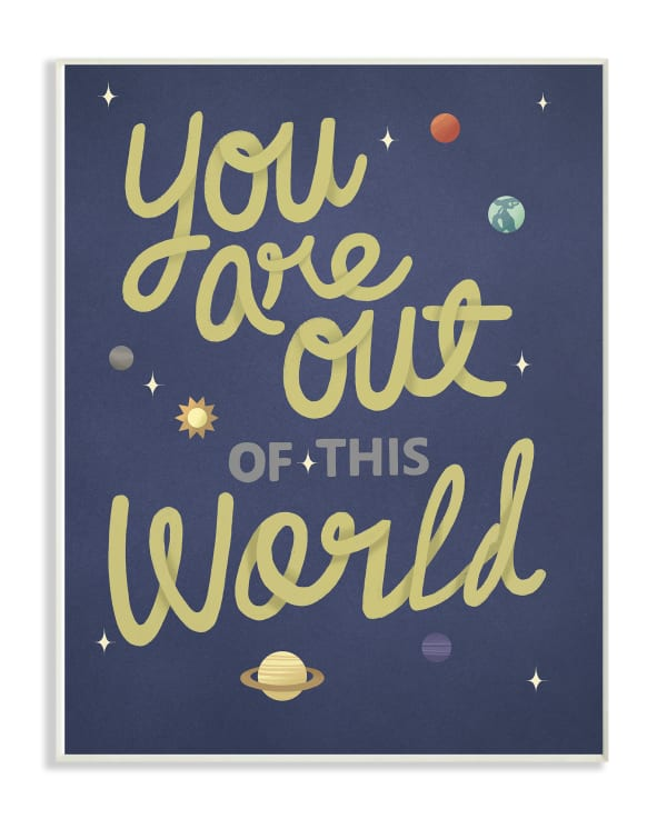 Outer Space Great Wall Plaque Art