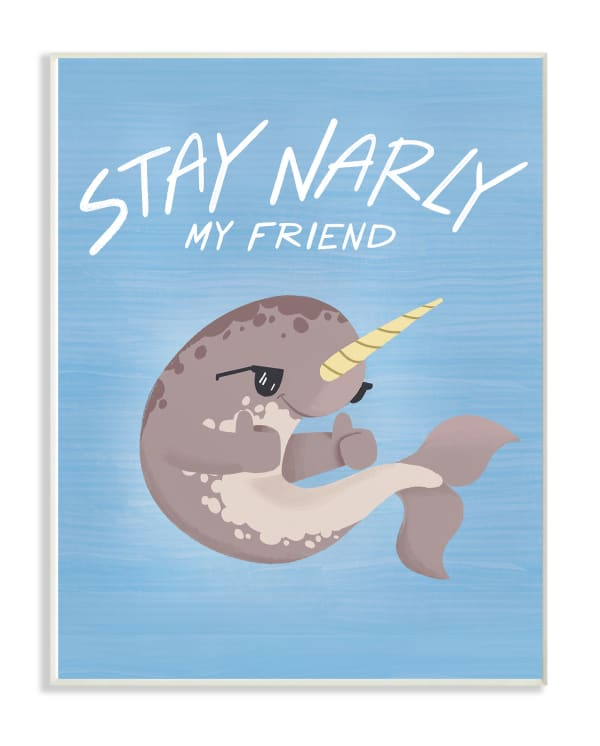 Stay Gnarly Blue Wall Plaque Art