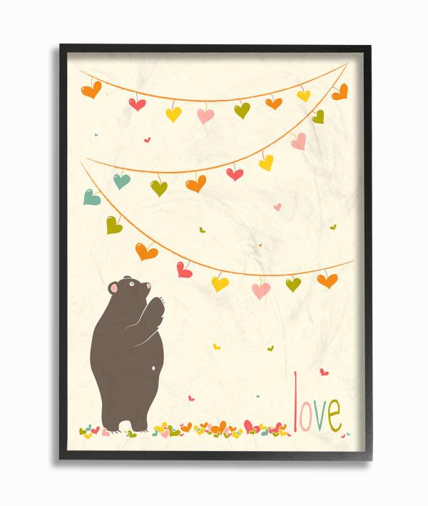Love Pennants Framed Giclee Texturized Art