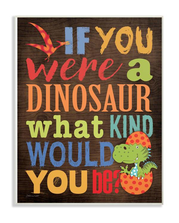Dinosaur Quiz Wall Plaque Art