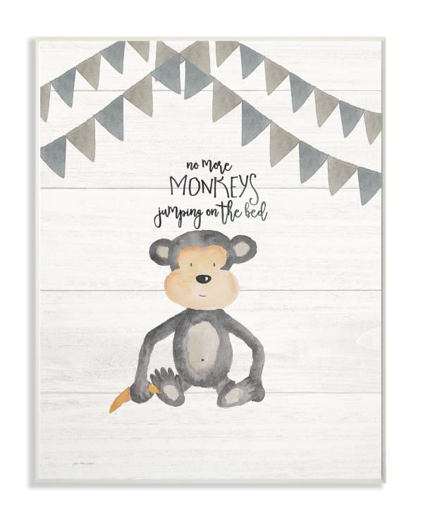 Monkey See Monkey Do Wall Plaque Art