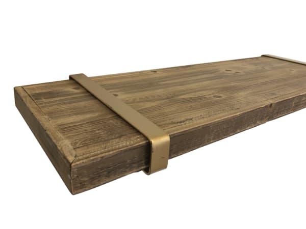 Gold P-Shaped Shelf Bracket Set of 2