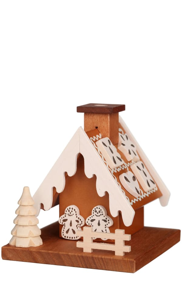Christian Ulbricht Incense Burner - Gingerbread House (Natural)