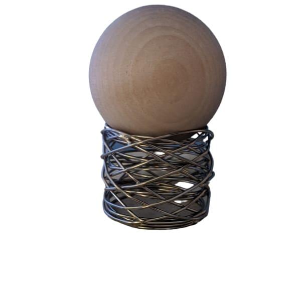 Dark Woods Scented Wood Sphere, Oil Free Diffuser