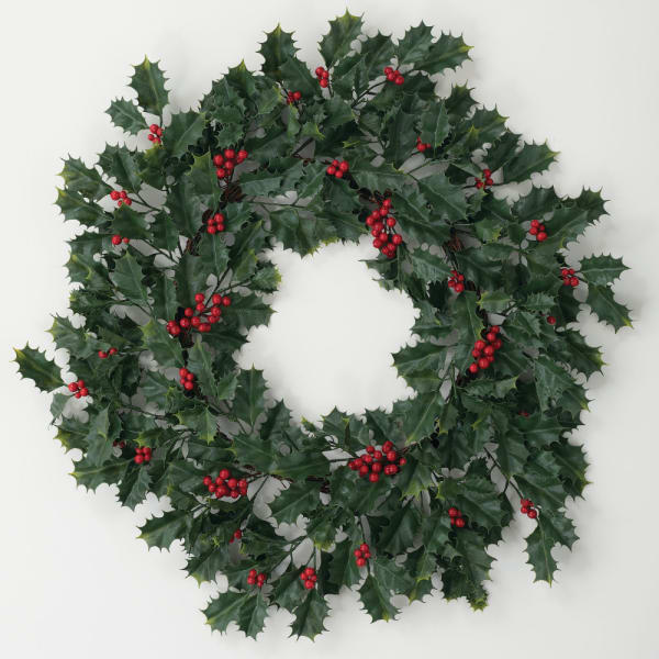 Vermont Holly Wreath
