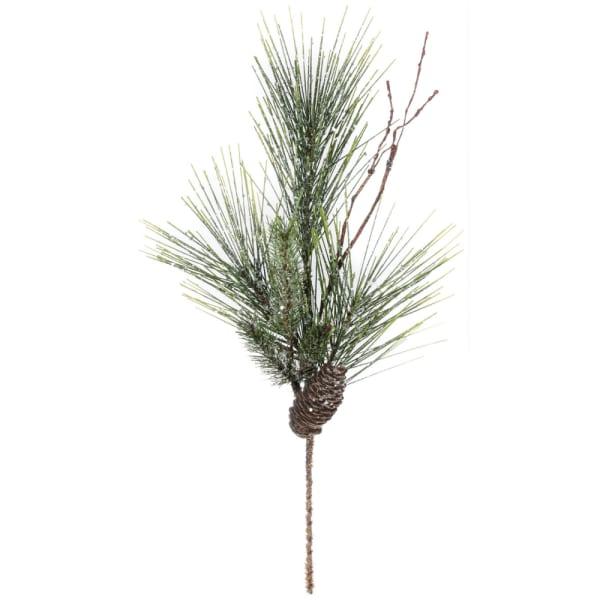 Iced Long Needle Pine Cone Spray