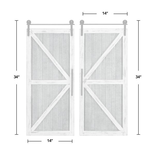 Carriage Farmhouse Barn Door White Plaque
