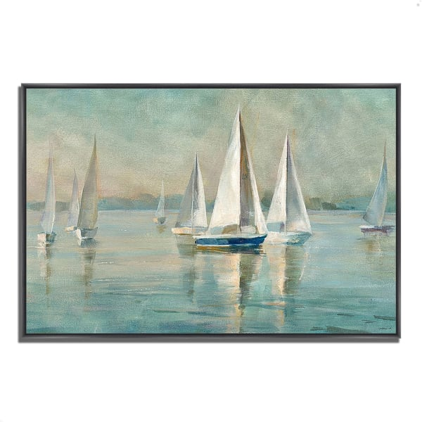 Sailboats at Sunrise by Danhui Nai 47 x 32 Gallery Wrap Canvas