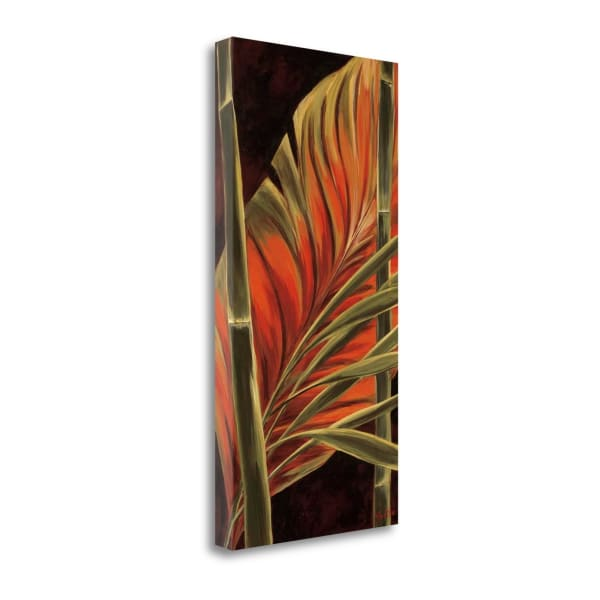 Makatea Leaves II By Yvette St. Amant 14 x 28 Gallery Wrap Canvas
