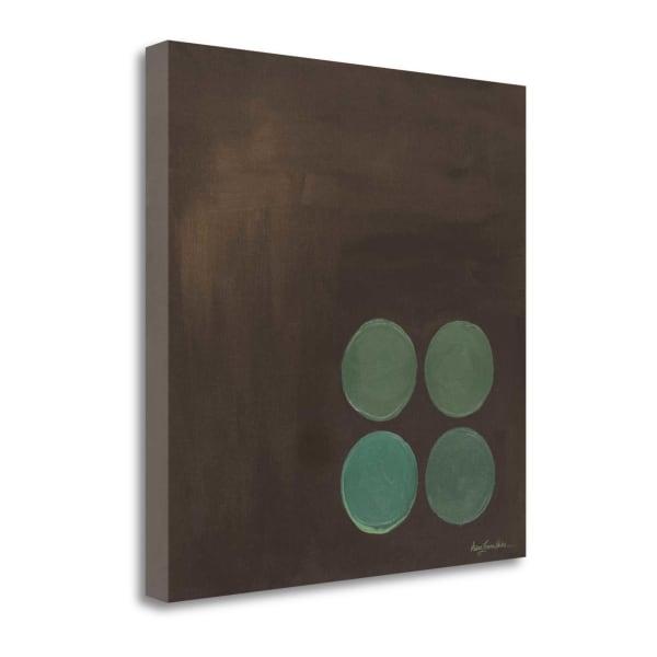 Aqua Lily Pads I By Karen Lorena Parker Gallery 22 x 22 Wrap Canvas