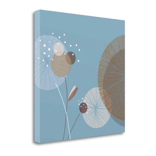 Blue Breeze II By Christina Mitchell 22 x 22 Gallery Wrap Canvas