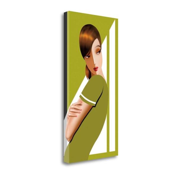 Jennifer In Greens By Jordan Bravo 14 x 28 Gallery Wrap Canvas