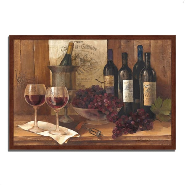 Vintage Wine by Albena Hristova 47  x 32 Framed Painting Print