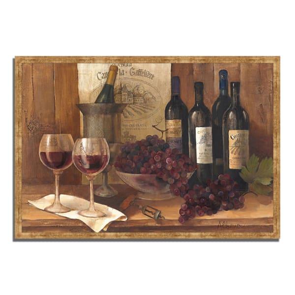 Vintage Wine by Albena Hristova 32  x 22 Framed Painting Print