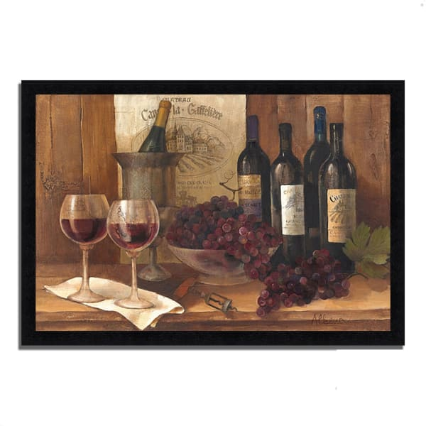 Vintage Wine by Albena Hristova Framed Painting Print 33  x 23