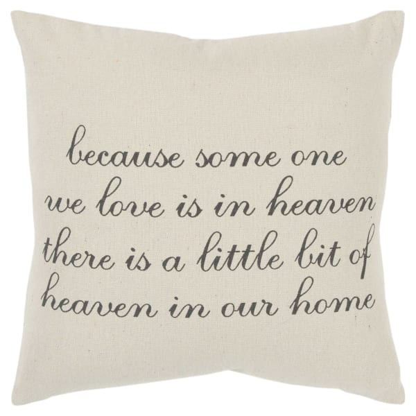 Heaven in our Home Text Square Pillow