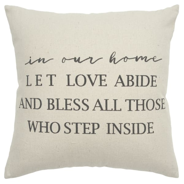 In This Home Text Square Pillow