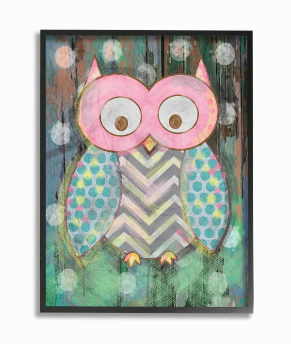 Woodland Owl 16 x 20 Framed Giclee Wall Art