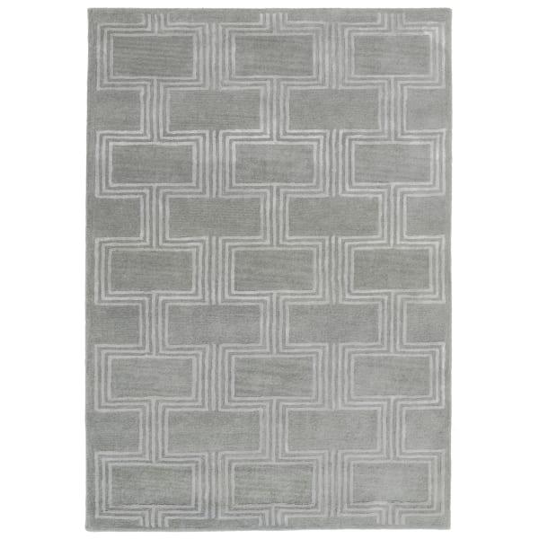 Boxes Indoor Rug Grey 3'5