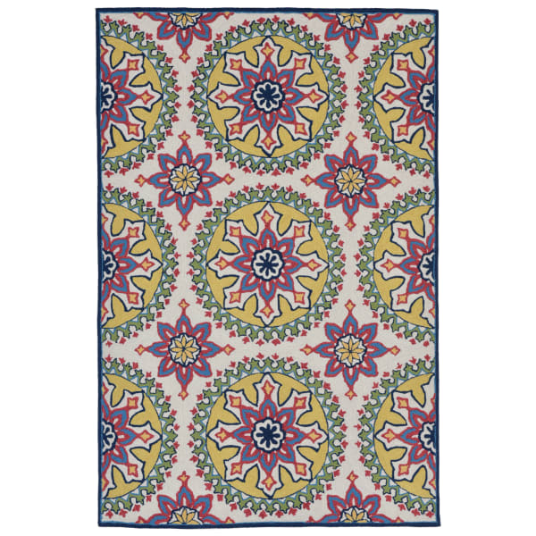 Moroccan Medallion Indoor/Outdoor Rug Multi 24