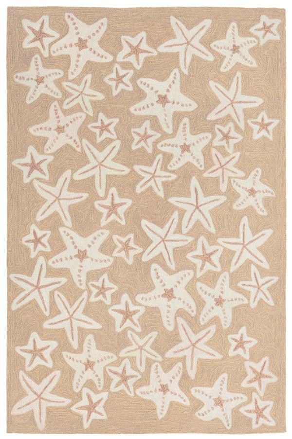 Starfish Indoor/Outdoor Rug Natural 5'X7'6