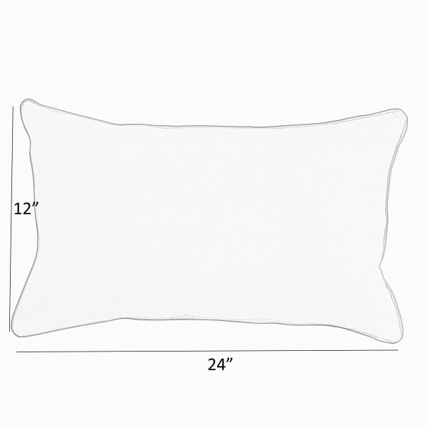 Sunbrella Small Flange Outodoor Pillows 24