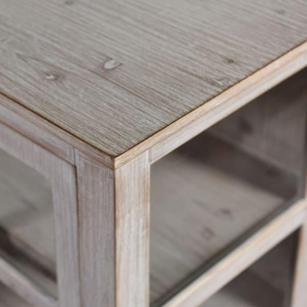 Sliding Door Cabinet Driftwood Gray