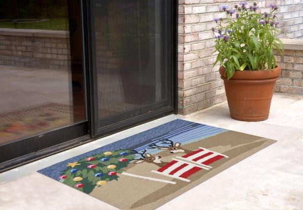 Christmas on the beach  Indoor/Outdoor Rug Multi 4' x 2'5