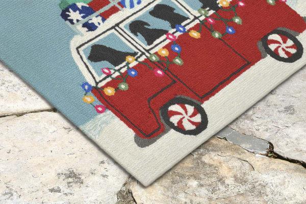 Holiday Van Indoor/Outdoor Rug Red 2'5