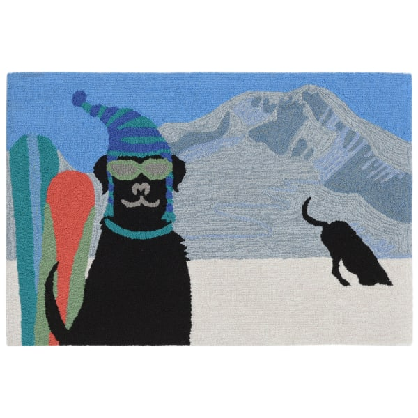 Cool In The Snow Indoor/Outdoor Rug Winter 4' x 2'5