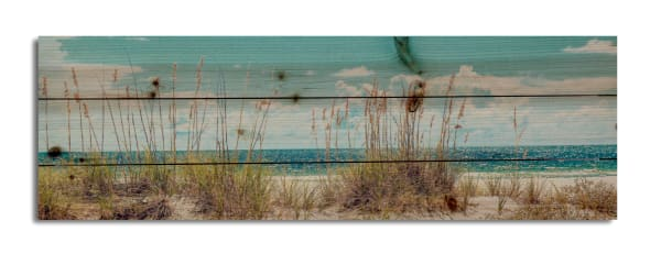 Sand Dunes Long Print on Wood Medium
