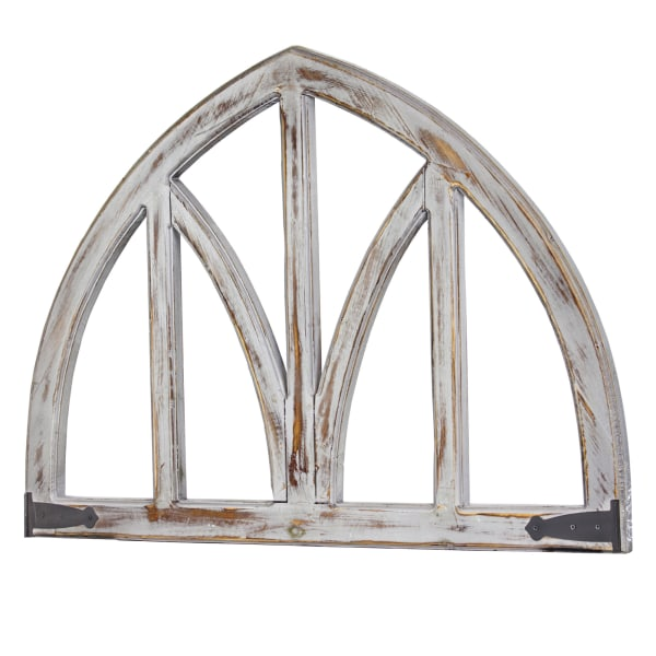 Whitewashed Wooden Arched Wall Decor