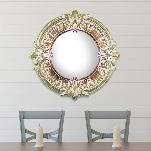 Gold And Bronze Decorative Metal Wall Vanity Accent Mirror Pier 1