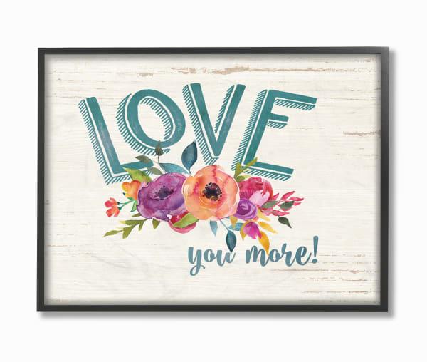 More Floral Love Framed Art, 11 x 1.5 x 14