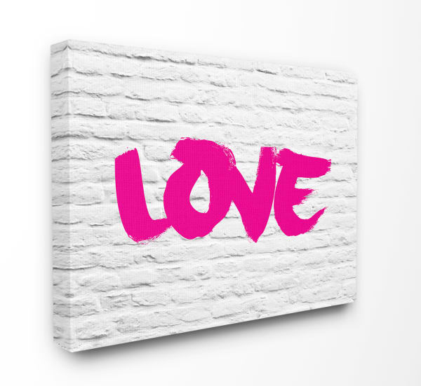 Pink LOVE 24x30 Stretched Canvas