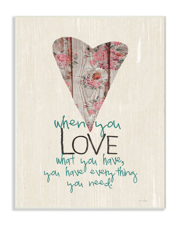 Everything You Need 10x15 Wall Plaque