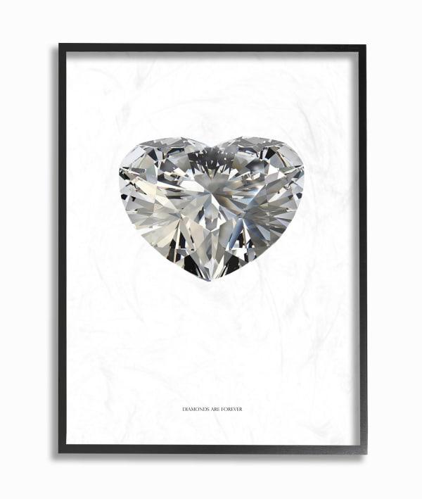 Diamond Heart 16x20 Framed Wall Art