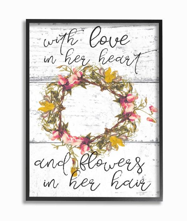 Flower Crown 11x14 Framed Wall Art