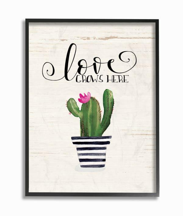 Cactus Love 11x14 Framed Wall Art
