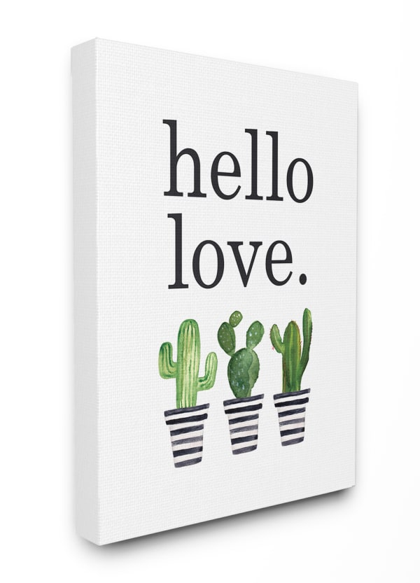 Cacti Love 16x20 Stretched Canvas