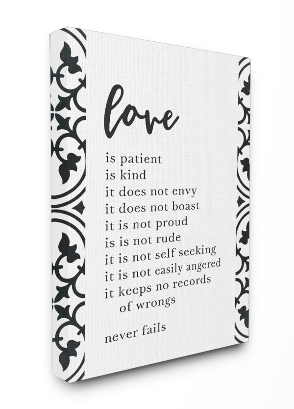 Love Is Canvas Wall Art 30 x 1.5 x 40