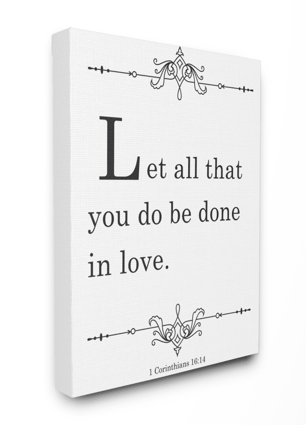 Done In Love Canvas Art, 24 x 1.5 x 30